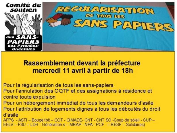 Rassemb - sans papiers 11-04-18 - Perpi