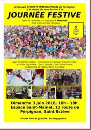 Amnesty-66 - journée festive 3 juin 2018